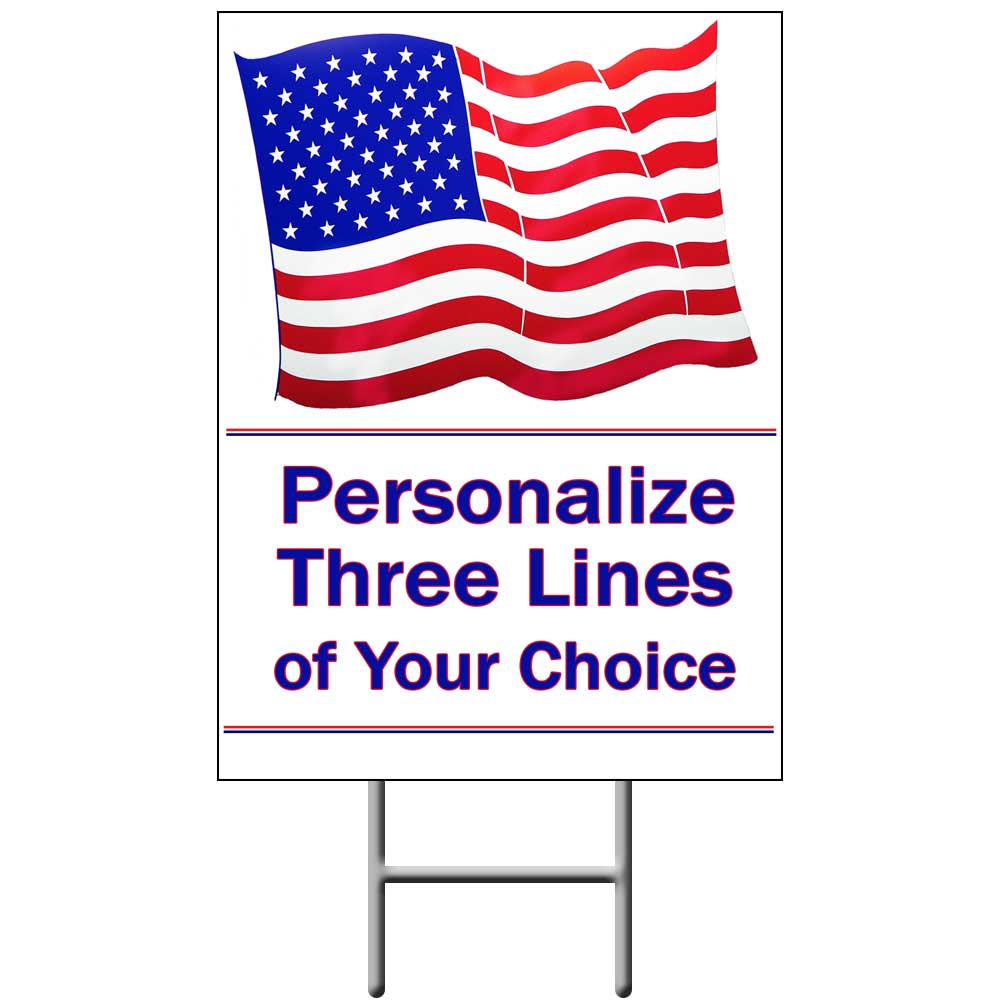 Click for larger picture of US FLAG YARD SIGN PARTY SUPPLIES