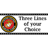 US MARINE CORPS BANNER STANDARD PARTY SUPPLIES