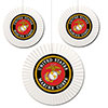 US MARINE CORPS FAN DECORATIONS PARTY SUPPLIES