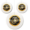 US MARINE MEDALLION FAN DECORATIONS PARTY SUPPLIES