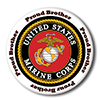 US MARINE PROUD BROTHER BUTTON PARTY SUPPLIES