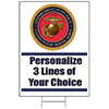 US MARINES CLASSIC PERSONALIZED YARD SIG PARTY SUPPLIES
