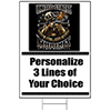 US MARINES PERSONALIZED YARD SIGN PARTY SUPPLIES