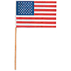 U.S FLAG MUSLIN 2IN. X 3 IN. (288/CASE) PARTY SUPPLIES