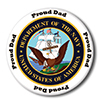 US NAVY PROUD DAD BUTTON PARTY SUPPLIES