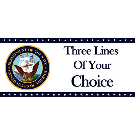 NAVY CLASSIC DELUXE BANNER PARTY SUPPLIES
