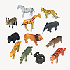 SAFARI ANIMALS PLASTIC TOY FAVOR (12/PK) PARTY SUPPLIES
