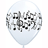 MUSIC NOTE LATEX BALLOONS (10 CT.) PARTY SUPPLIES