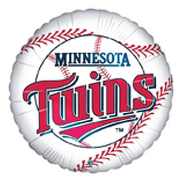 Click for larger picture of MINNESOTA TWINS MYLAR BALLOON 18