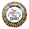 18IN CANDLES LITTLE CAKE 2SD (10/CASE) PARTY SUPPLIES