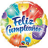 CUMPLEAÑOS BALLOONS ABLAZE MYLAR (10/CS) PARTY SUPPLIES