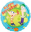 PHINEAS & FERB MYLAR BALLOON 18