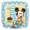 MICKEY 1ST BDAY MYLAR BALLOON 18