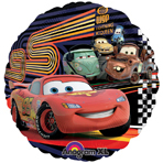 Click for larger picture of CARS 2 MCQUEEN & GROUP MYLAR BALLOON PARTY SUPPLIES