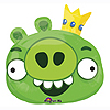 ANGRY BIRDS GREEN PIG JUMBO MYLAR BALLOO PARTY SUPPLIES