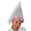 CHILD'S PRINCESS HAT W/VEIL IRIDESCENT PARTY SUPPLIES
