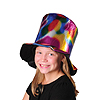 METALLIC MULTICOLOR TOP HAT PARTY SUPPLIES