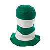 GREEN/ WHITE STRIPED STOVE PIPE TOP HAT PARTY SUPPLIES