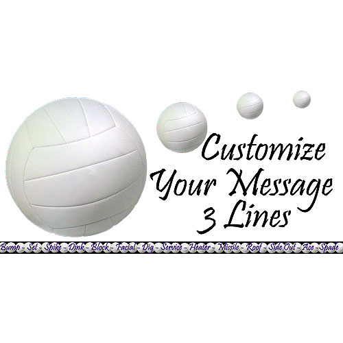 Personalized Sports Banners Party Supplies Personalized Volleyball
