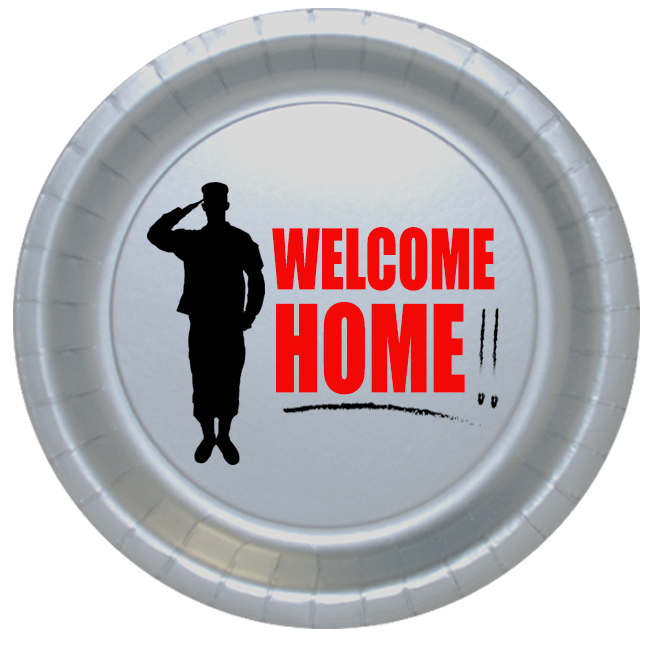 Click for larger picture of WELCOME HOME DESSERT PLATE 8/PKG PARTY SUPPLIES