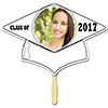 WHITE GRAD CAP PHOTO PADDLE PARTY SUPPLIES