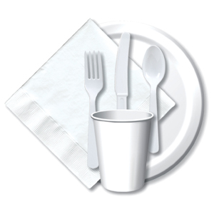 BULK WHITE TABLEWARE