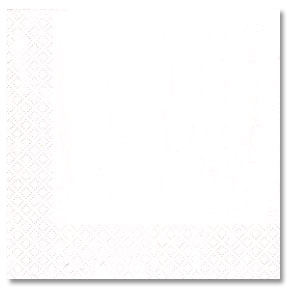 WHITE 2 PLY LUNCHEON NAPKIN (900/CS) PARTY SUPPLIES
