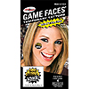 GOLD & BLACK ATTACK GAME FACE TATTOO 4/P PARTY SUPPLIES