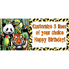 PERSONALIZED WILD ANIMALS BANNER PARTY SUPPLIES