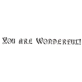 DISCONTINUED YOU ARE WONDERFUL!  STAMP PARTY SUPPLIES
