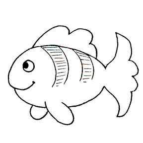 DISCONTINUED STRIPED FISH RUBBER STAMP PARTY SUPPLIES