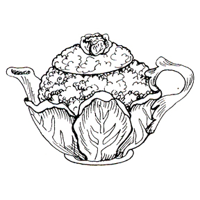DISCONTINUED CAULIFLOWER TEAPOT  STAMP PARTY SUPPLIES