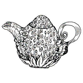DISCONTINUED FLORAL SEEDS TEAPOT STAMP PARTY SUPPLIES