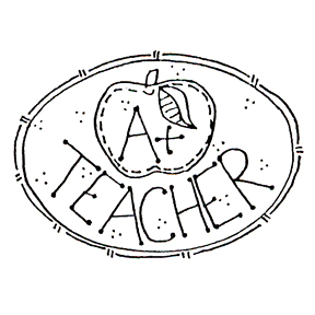 Click for larger picture of DISCONTINUED A+ TEACHER RUBBER STAMP PARTY SUPPLIES