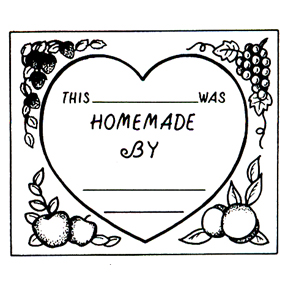 Click for larger picture of DISCONTINUED HOMEMADE BY RUBBER STAMP PARTY SUPPLIES