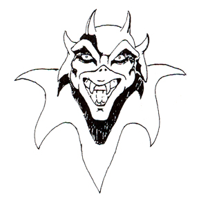 DISCONTINUED DEVIL RUBBER STAMP PARTY SUPPLIES