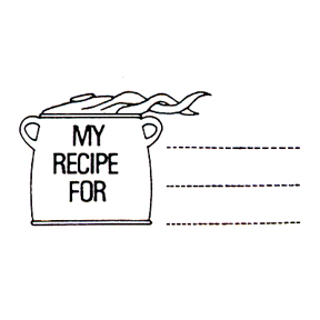 DISCONTINUED MY RECIPE FOR RUBBER STAMP PARTY SUPPLIES