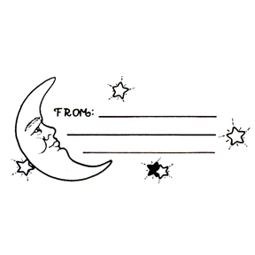 DISCONTINUED FROM W/MOON RUBBER STAMP PARTY SUPPLIES