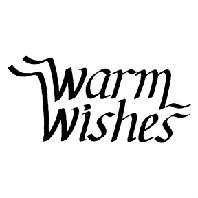 DISCONTINUED WARM WISHES RUBBER STAMP PARTY SUPPLIES