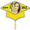 YELLOW GRAD CAP PHOTO PADDLE PARTY SUPPLIES
