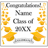 YELLOW MORTARBOARD GRAD DOOR BANNER PARTY SUPPLIES
