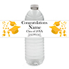 YELLOW GRADUATION WATER BOTTLE LABEL PARTY SUPPLIES