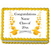 YELLOW MORTARBOARD CUSTOM EDIBLE IMAGE PARTY SUPPLIES