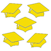 YELLOW MORTARBOARD GRAD DECO FETTI PARTY SUPPLIES