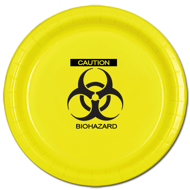 ZOMBIE BIOHAZARD DINNER PLATE PARTY SUPPLIES