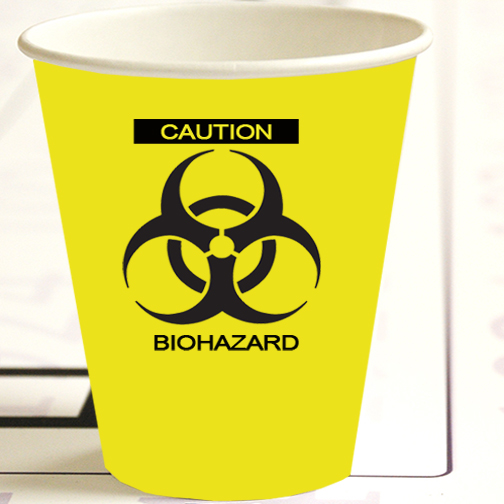 ZOMBIE BIOHAZARD HOT-COLD CUP PARTY SUPPLIES