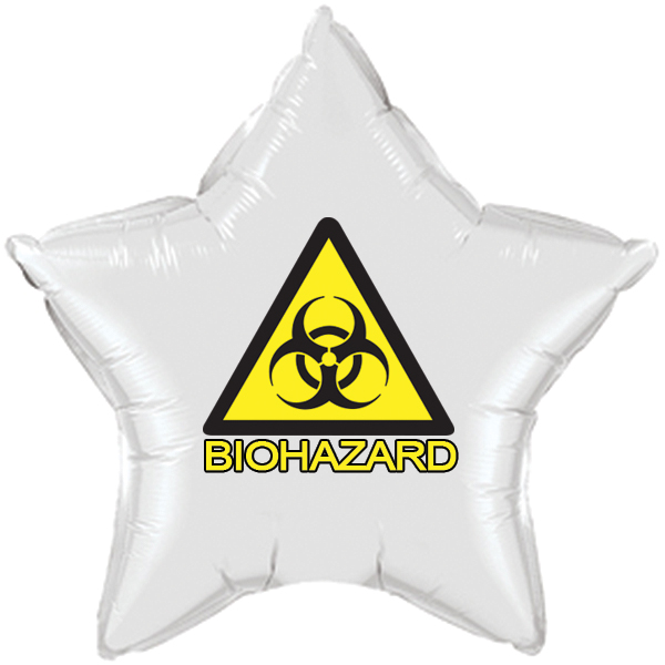 ZOMBIE BIOHAZARD MYLAR BALLOON PARTY SUPPLIES