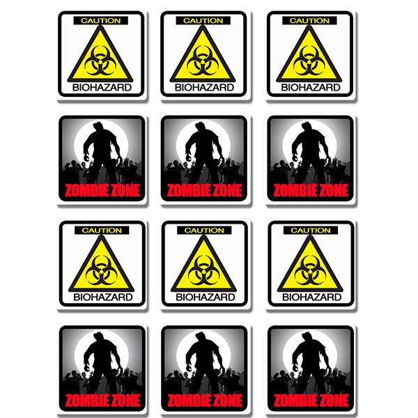 ZOMBIE ZONE BIOHAZARD COASTERS PARTY SUPPLIES