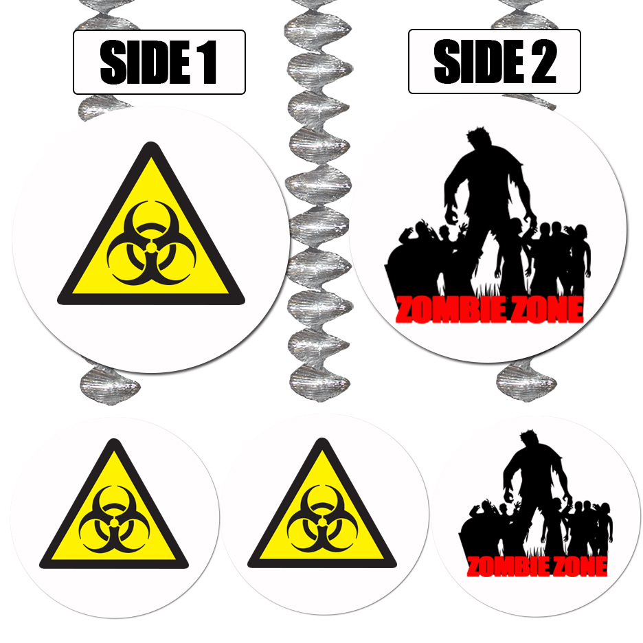ZOMBIE ZONE DANGLER DECORATION PARTY SUPPLIES