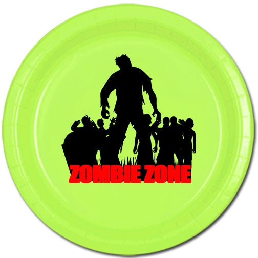 ZOMBIE ZONE DESSERT PLATE PARTY SUPPLIES